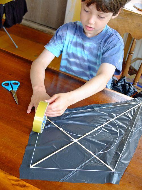 how to make a kite homemade