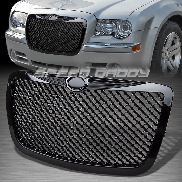 Luxury Mesh Front Hood Bumper Abs Vent Grill Frame 05 10 Chrysler