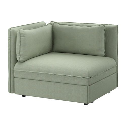 ikea sofa sleeper sectional leg replacements vallentuna 1 seat orrsta light gray mid hillared green