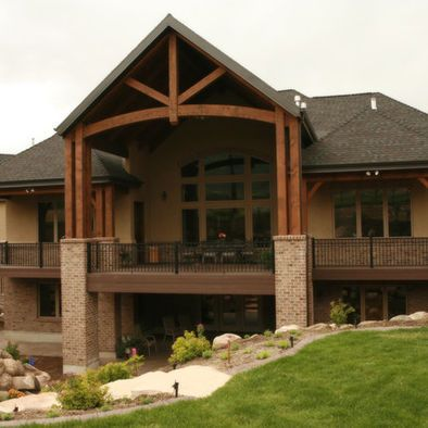 Covered Deck Design Ideas Pictures Remodel And Decor Basement House Lake House Plans Basement House Plans
