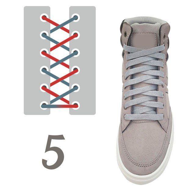10 originales formas de amarrar tus agujetas   Cordones para