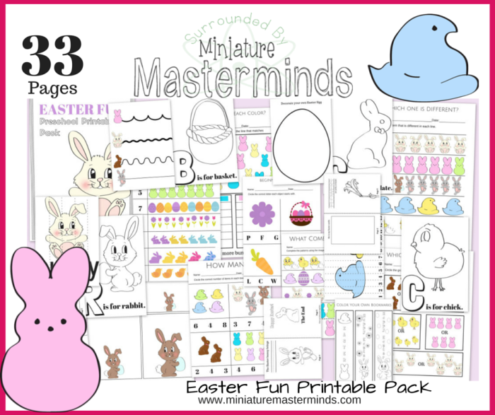 33 pages of easter fun free preschool and toddler printable activities - Fun Printable Activities