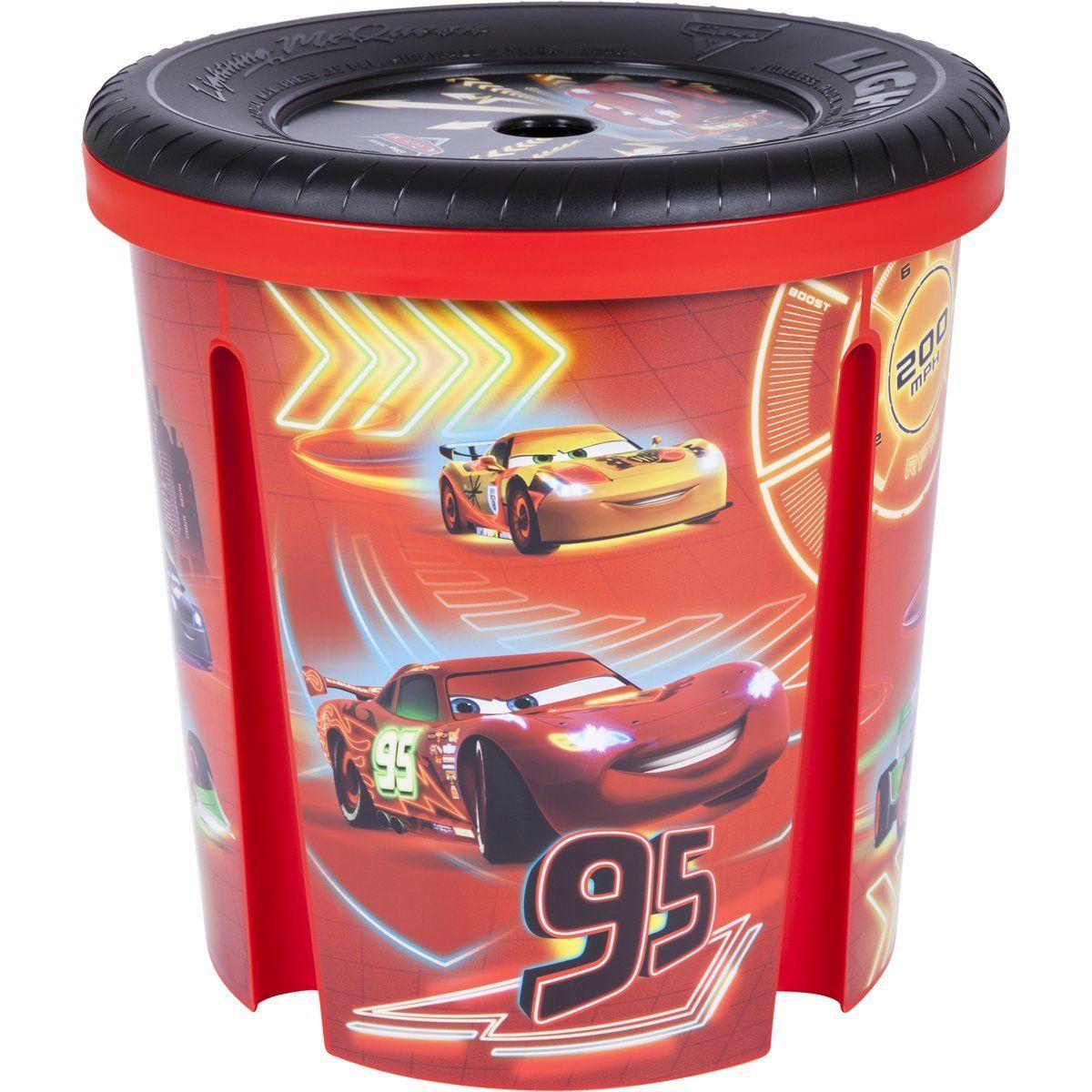 Stabile Spielzeugtonne im Disney Cars Design Damit ist