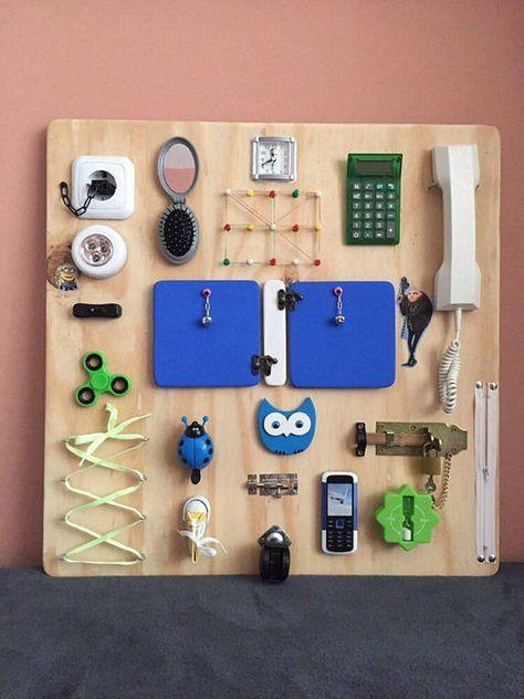 Activity Board, Busy Board, Sensory Board, Montessori educational Toy
