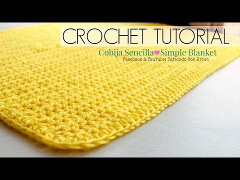 Como Hacer Una Cobija Sencilla Crochet Tutorial Tejiendo Con Erica Manta De Ganchillo Sencilla Ganchillo Sencillo Tutorial De Tejido A Ganchillo