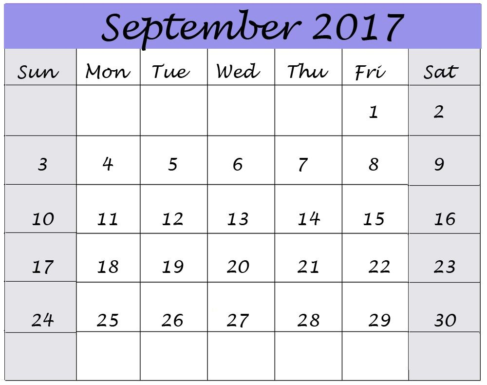 September Calendar Template Format Download â Free Printable - Dental invoice template word rocco online store