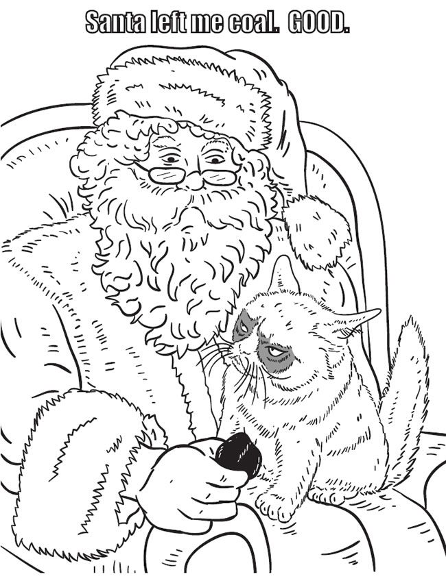 Grumpy Cat Coloring Book Dover Publications Christmas Coloring