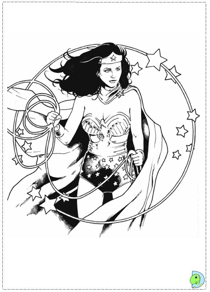 Coloring Page Wonder Woman Comic Superhero Coloring Marvel