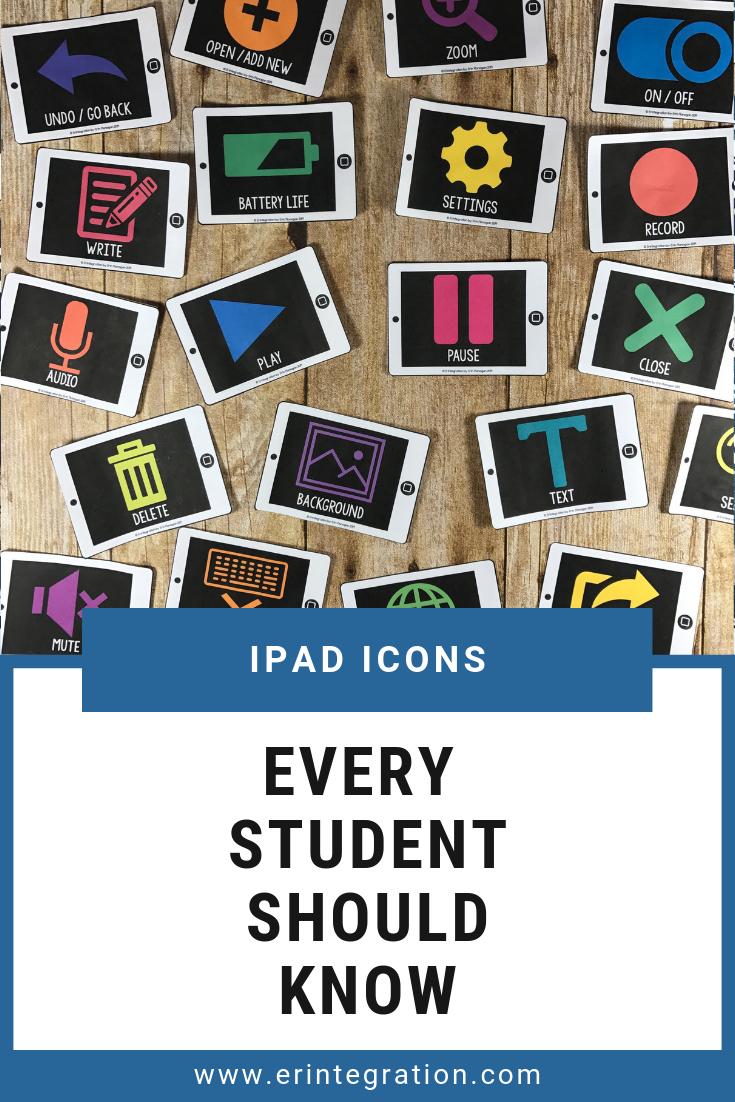Ipad App Icon Cards 28 App Icons To Know Ipad Activities Ipad Apps Computer Lab Decor
