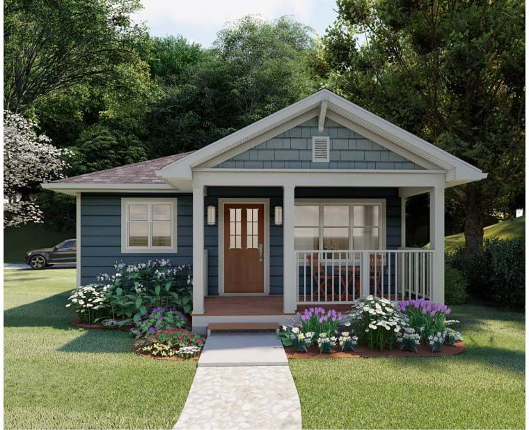 Craftsman Style House Plan 96235 with 1 Bed, 1 Bath #craftsmanstylehomes