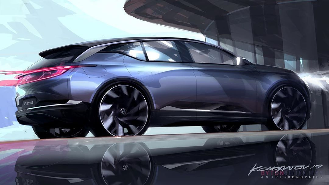 Andrey Konopatov On Instagram First Exterior Sketch Of Byton M Byte 4 Days Before The Release Byton Byton Mbyte Iaa Frankfurtmotorshow Car Interior Design Car Design Sketch Automotive Design