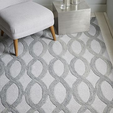 Linking Loops Wool Rug Frost Gray Westelm This One Is For The Guest Bedroom See If Local Denver Carries