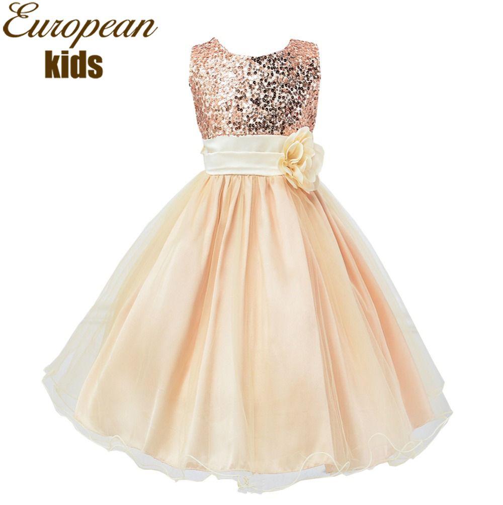 Girls vestido de verano 2016 de la princesa del vestido de boda para ...