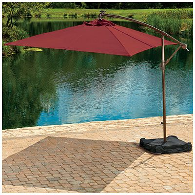Wilson & Fisher® Solar Offset 11' Rectangular Umbrella with Base at Big Lots. Until the deck cover is built?