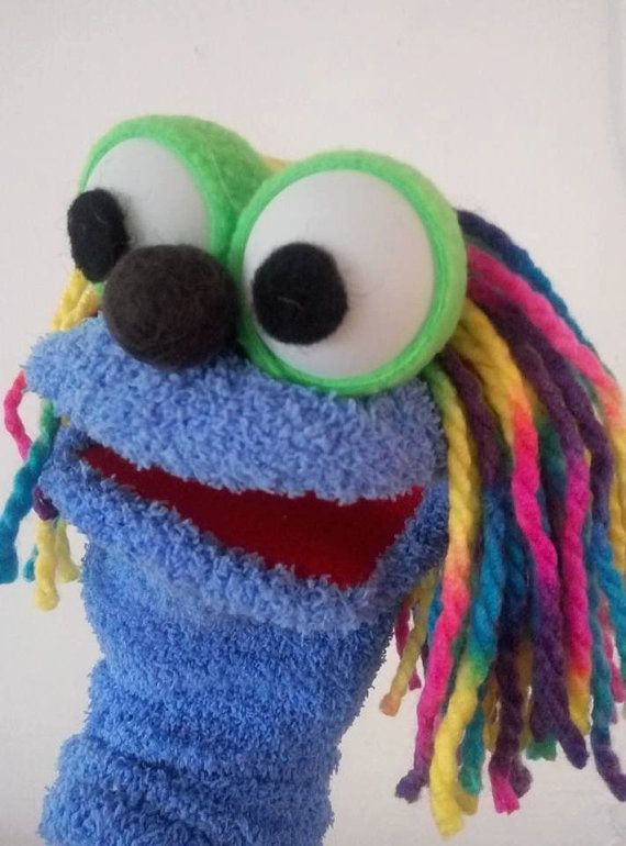 Blue Sock Puppet : puppet, Puppet,, Moving, Mouth, Puppet, Therapy, Educational, Puppets,, Puppets