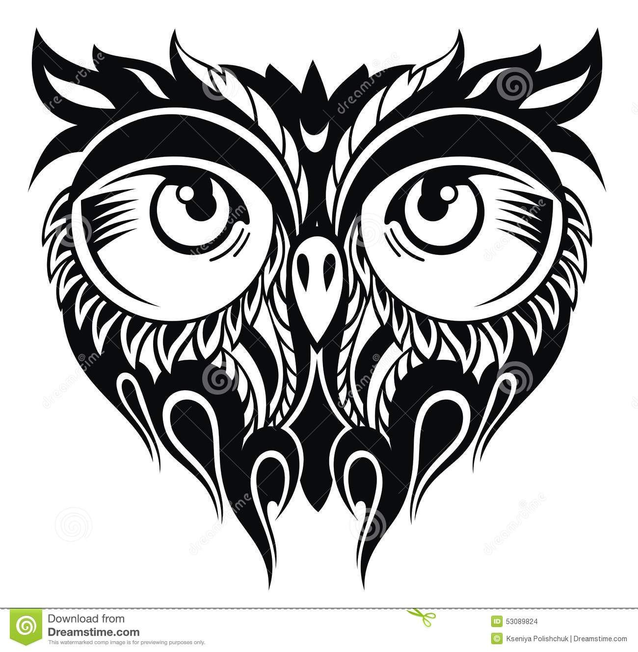 Owl In Tattoo  Style - Download From Over 38 Million High Quality Stock Photos, Images, Vectors. Sign up for FREE today. Image: 53089824
