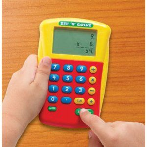 this simple four function calculator sets up a math problem this simple four function calculator sets up a math problem exactly as young students are