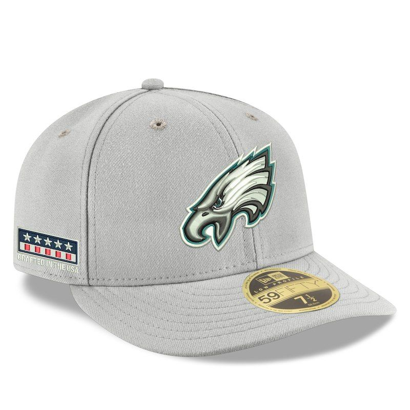 ee701358e07 Philadelphia Eagles New Era Crafted in the USA Low Profile 59FIFTY Fitted  Hat - Gray