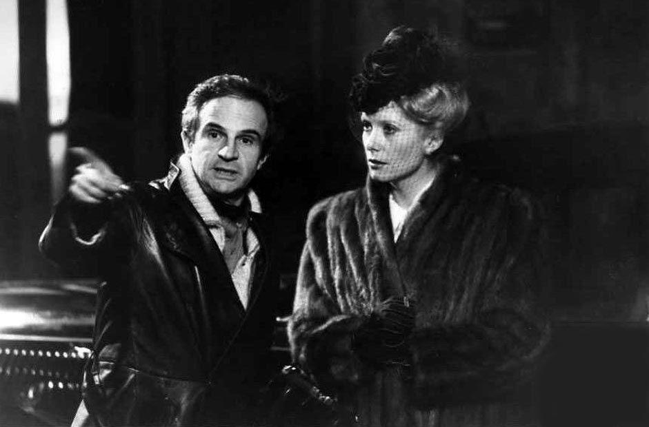 "François Truffaut and Catherine Deneuve on the set of ""Le dernier métro"" 1980"