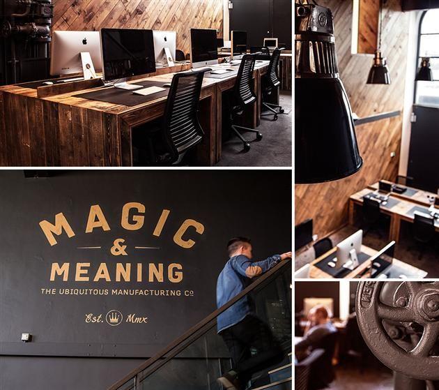 Masculine Ubiquitous Office Space in United Kingdom design