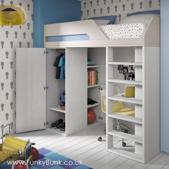 High Sleeper Wardrobe Box Room Bedroom Ideas Bunk Bed With