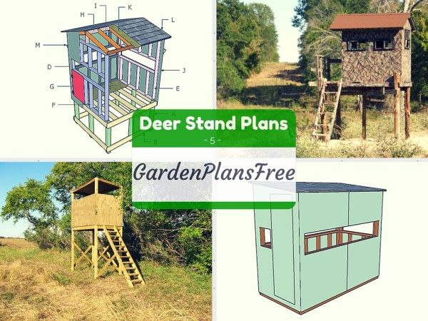 5 free deer stand plans outdoor plans pinterest deer for Deer ground blind plans
