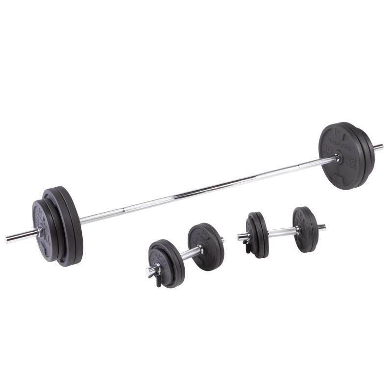 Kit Manubri E Bilanciere Bodybuilding 93kg Bilanciere Allenamento Con Pesi Bicipiti