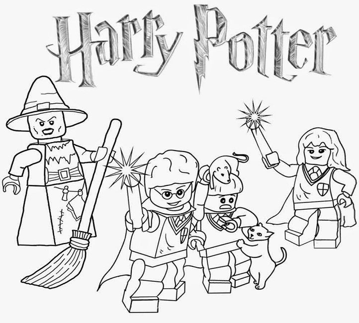 Lego Coloring Pages Harry Potter Avec Images Coloriage Harry