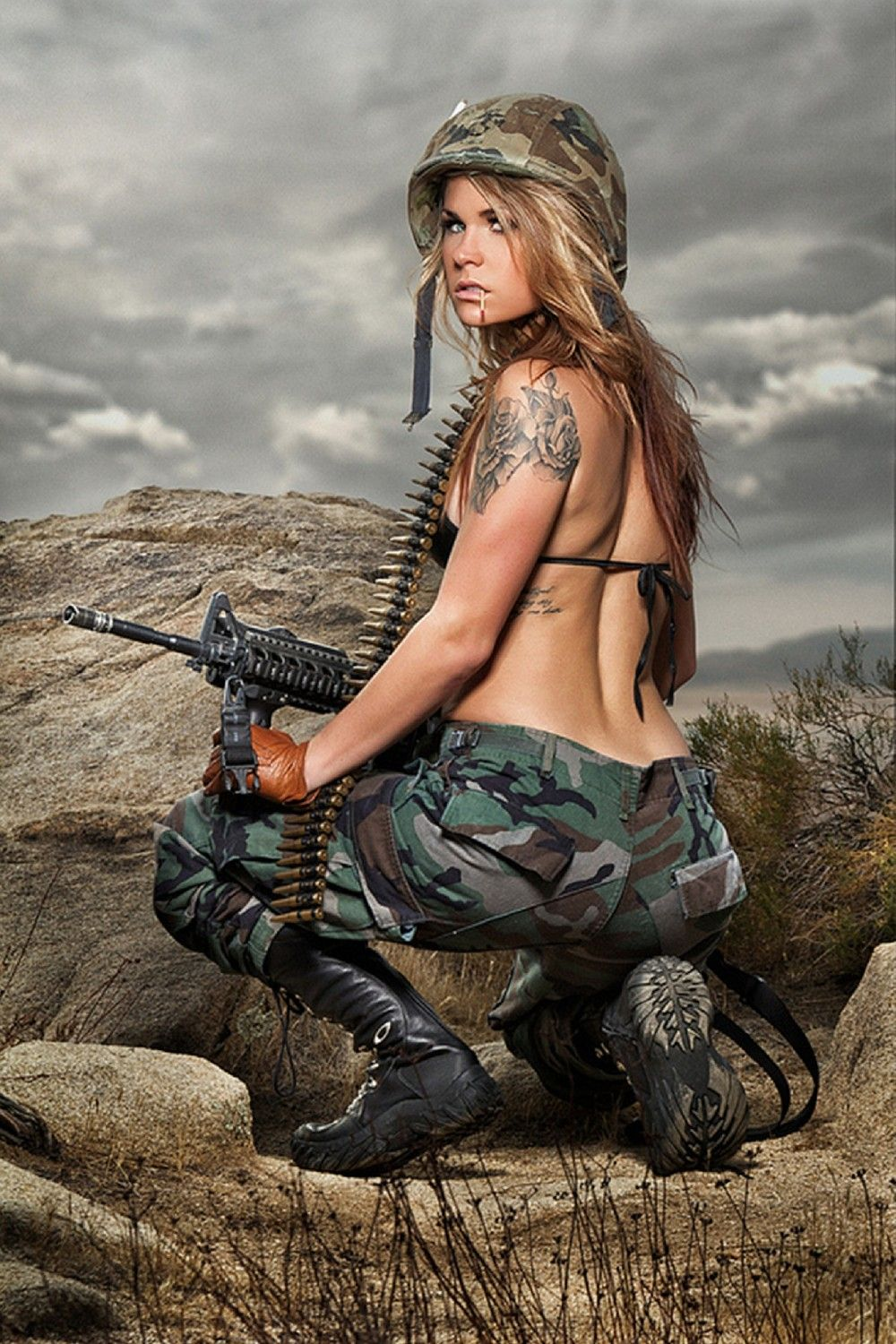 Army sex woman