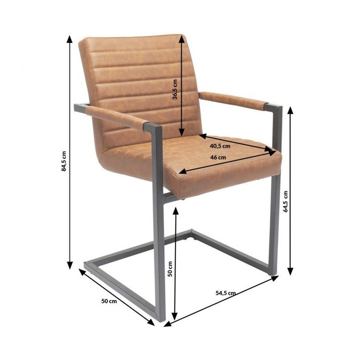 Chaise Avec Accoudoirs Cantilever Barone Marron Kare Design Taille Tu Chaise Chaise Design Chaise Accoudoir