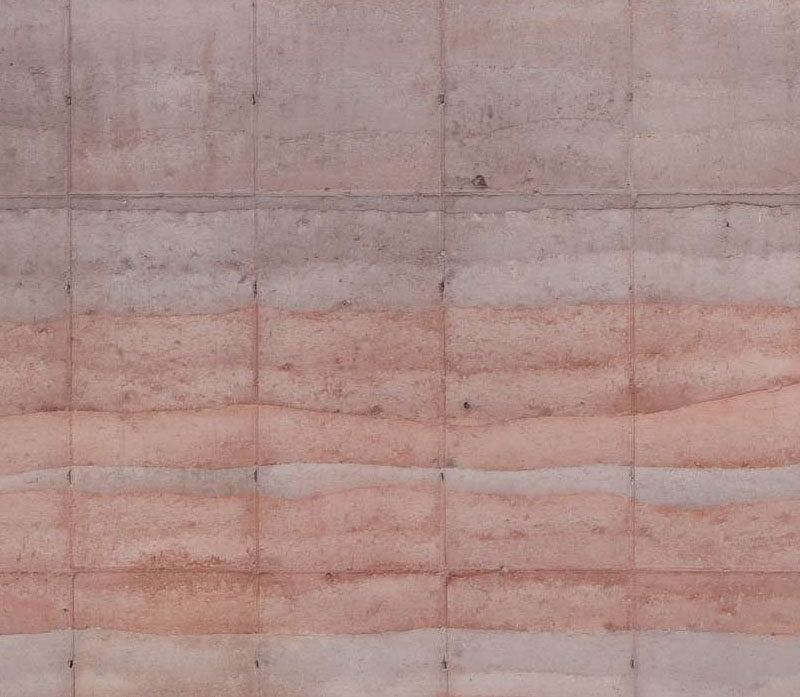 Rammed Earth Walls... Love The Texture This Creates.