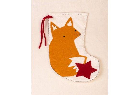 """Felt Fox Stocking"" Creativebug Materials Kit - DIY Kits - DIY Kits & Craft Books - DIY"