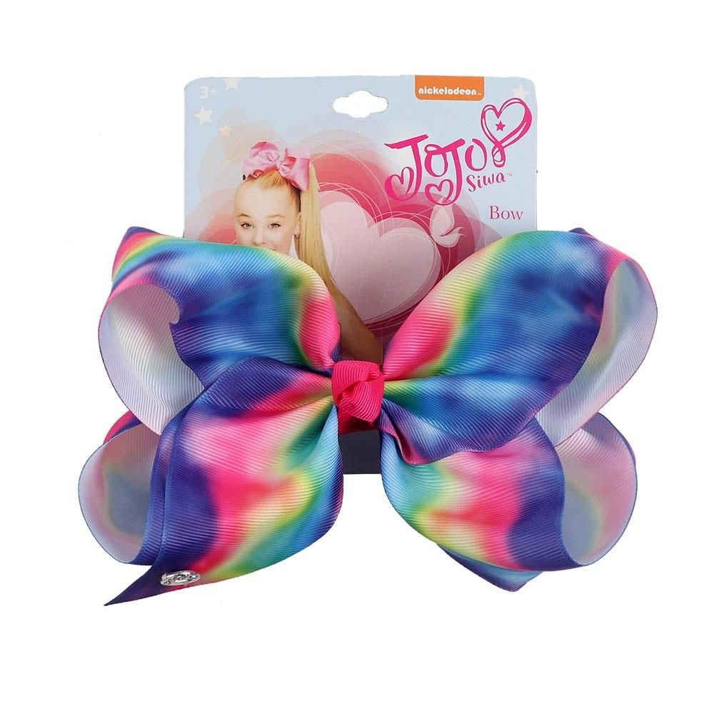 "7/"" Jumbo Unicorn Bows With Hair Clips For Girls Kids Ribbon Hairgrips Knot Bow"