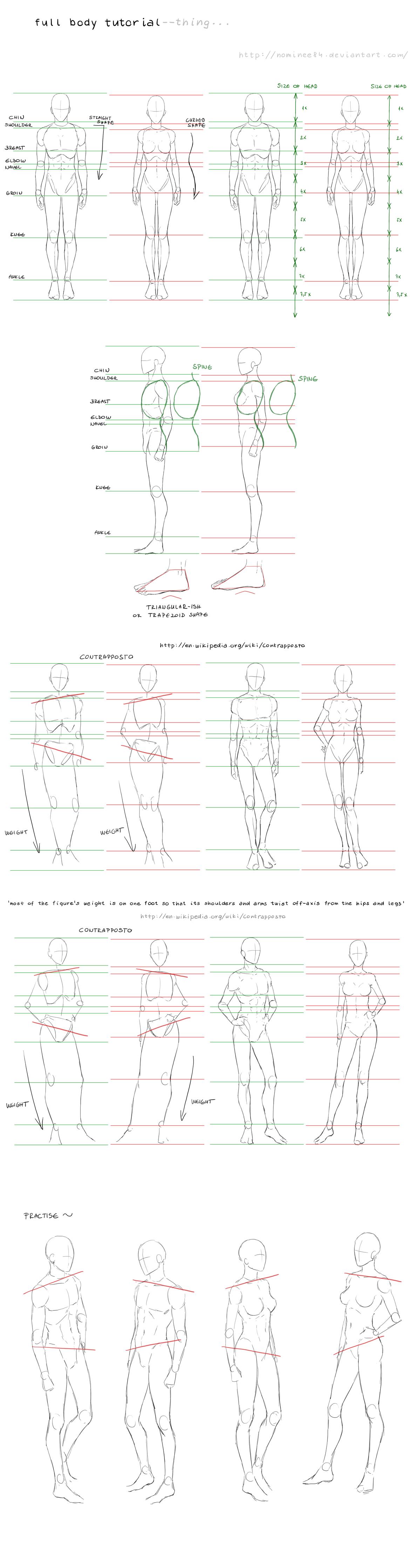 Full Body Tutorial By Nominee84 On Deviantart