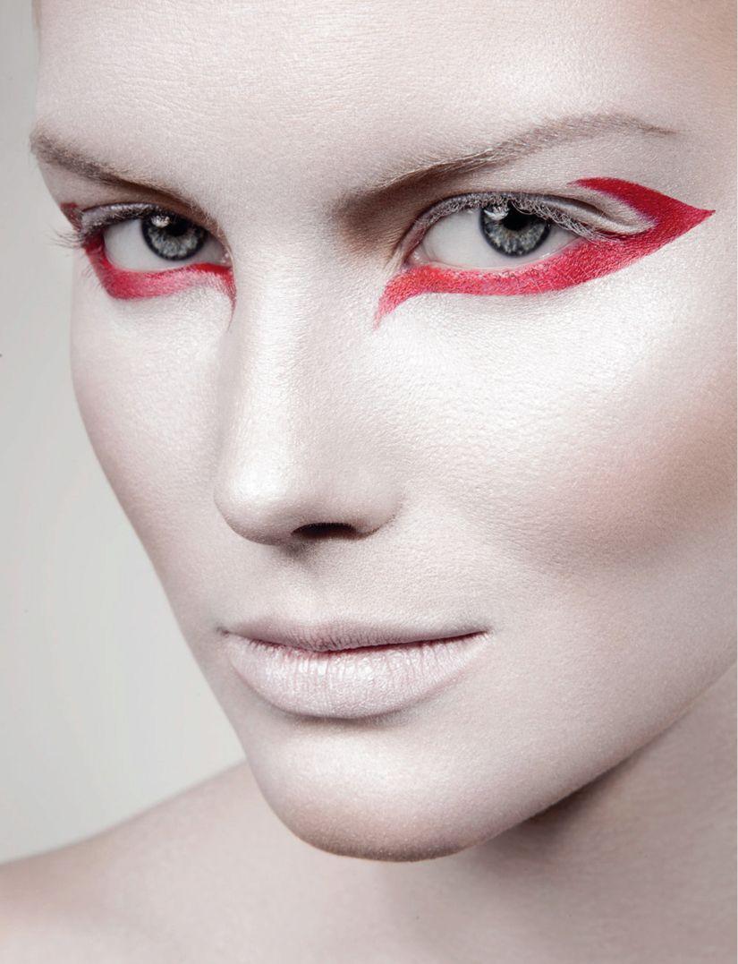 Яркий макияж с красными тенями (50 фото) — Будь ...