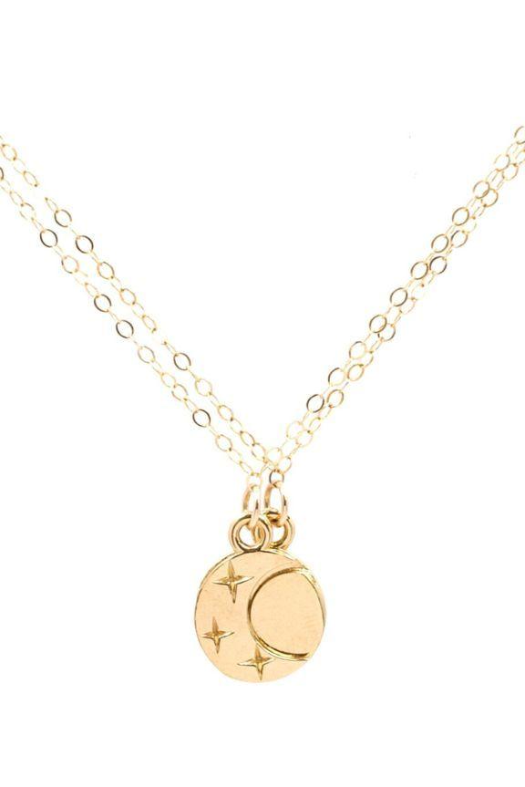 Moorea Seal Eclipse Friendship Gold Necklace