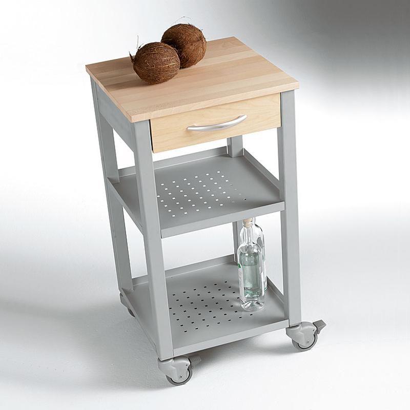 Carrello da Cucina 47x47xh87 cm con cassetto due ripiani top di ...