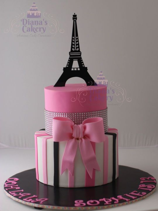 Paris Themed Cake Party Pinterest Cake Birthdays And 13th