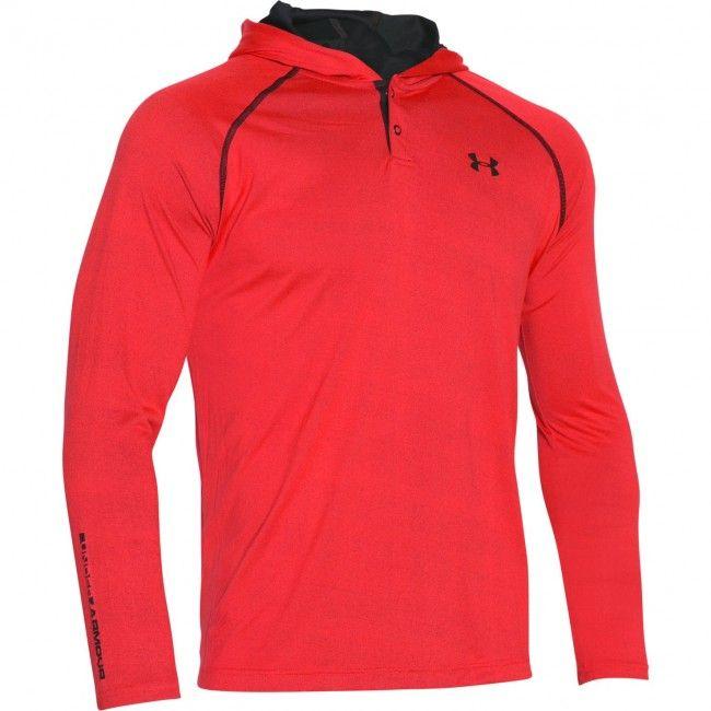 NWT Under Armour UA Men/'s Tech Popover Henley Shirt Top Hoodie Midnight Blue Lrg