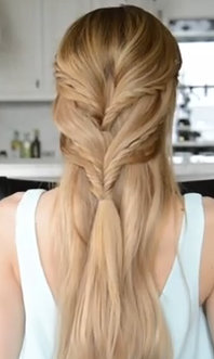 rope braided halfup halfdown hairstyle tutorial  easy