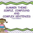 This pack is for a 3rd-5th grade classroom working on identifying simple, compound and complex sentences. Students will sort and identify simple, c...