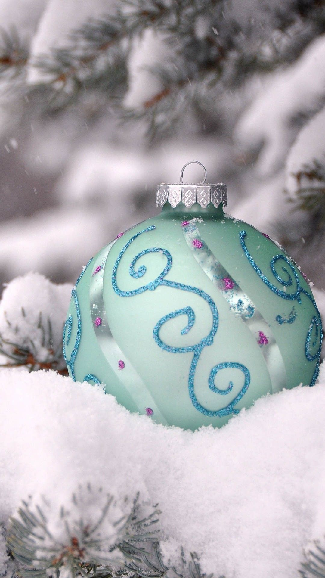 Themed christmas ornaments - Frozen Themed Christmas Tree Floating Ornament Iphone 6 Plus Wallpaper Tree Snow Closeup