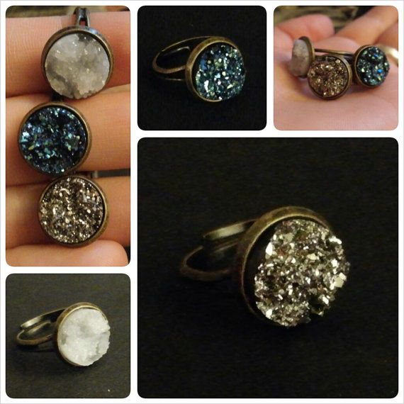 Hey, I found this really awesome Etsy listing at http://www.etsy.com/listing/158629468/sparkle-rock-gem-ring