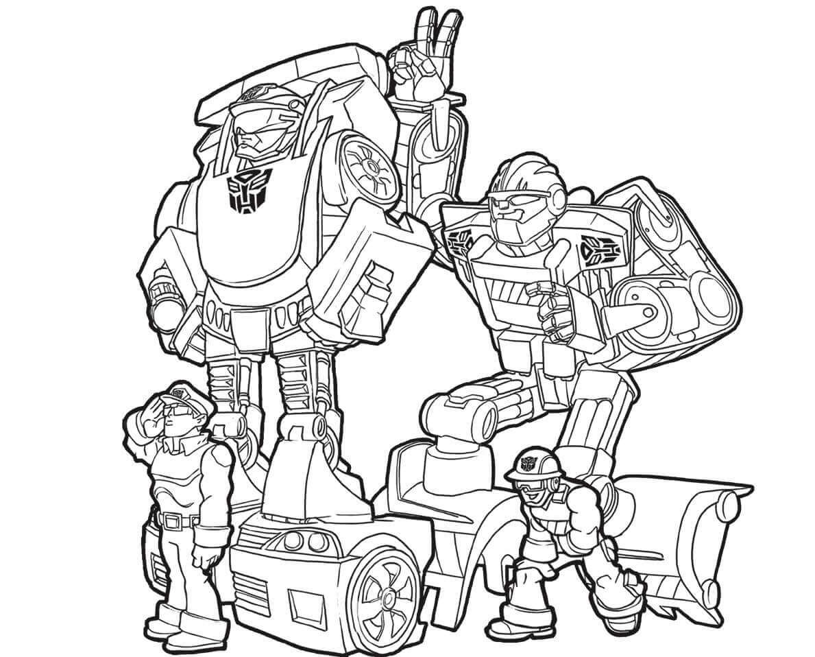 Transformers Coloring Pages Transformers Coloring Pages Rescue