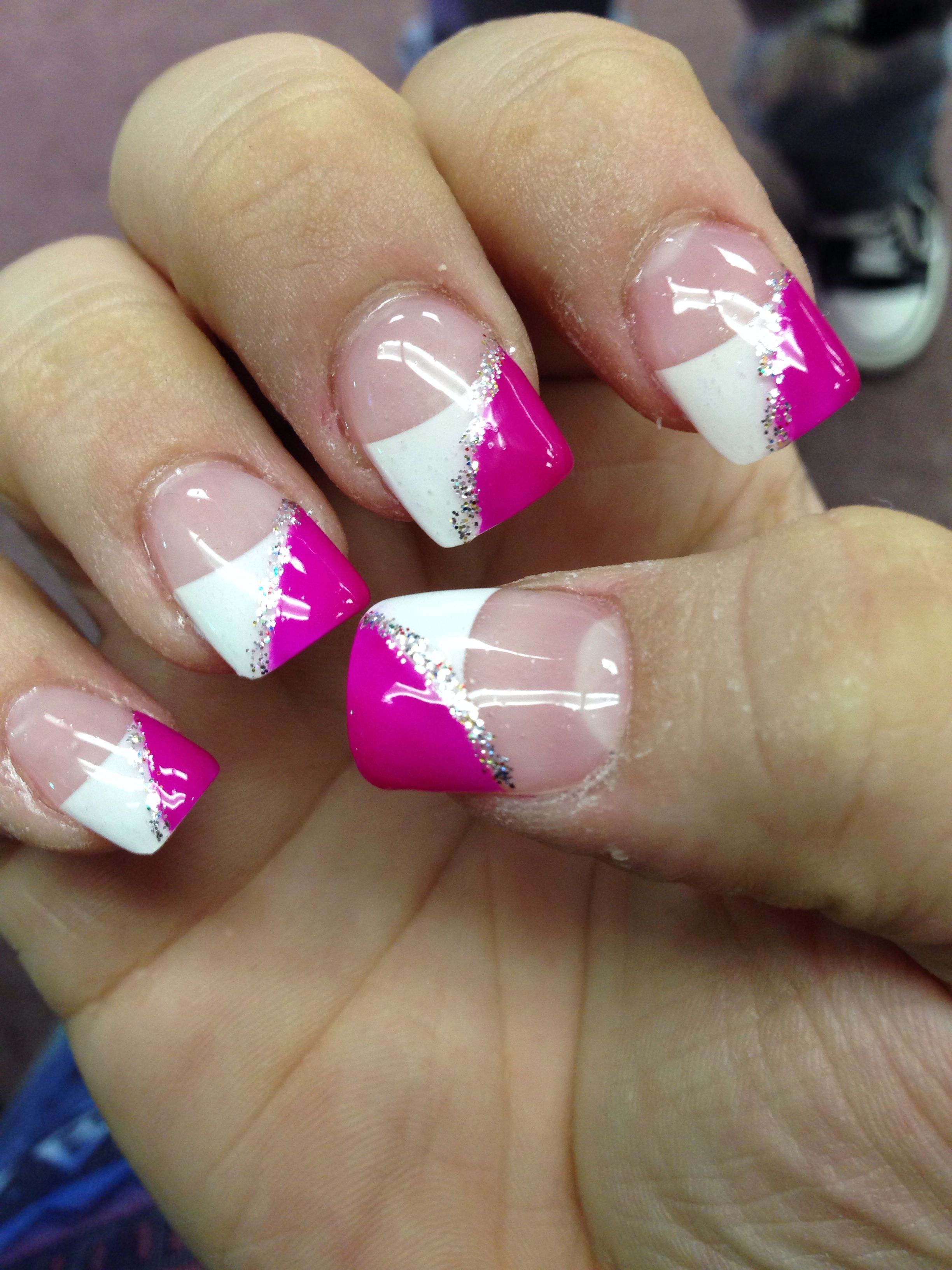 gel nails. Change the pink to a different color in 2020