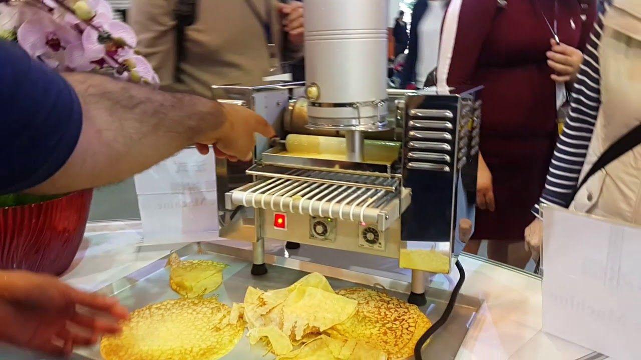 مكينة انتاج الكريب الأتوماتيك صناعة تايوان طبعا السعر غالي جدا مقارنة با Popcorn Maker
