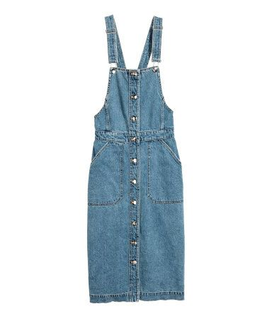 afedad303f0 Calf-length bib overall dress in washed denim | Why I Wish I Was ...