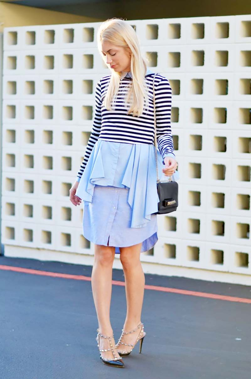 6d3e75b523 Striped Shirt Outfit Ideas  10 Ways to Style a Black and White ...