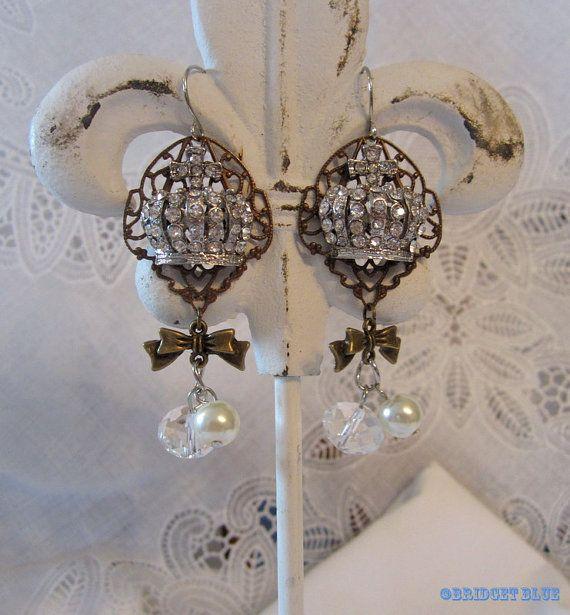 Crown Earrings by Bridget Blue by Bridget Blue™ on Etsy,