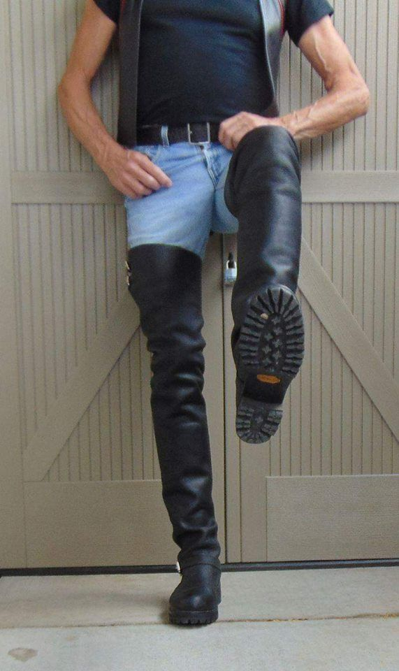 Boots, Leather jacket men, Mens high boots